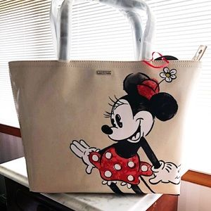 Kate Spade Minnie Mouse Cotton Coated Tote. NWT
